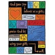 Trend Enterprises® ARGUS® Poster, Your Talents Are God's Gifts To You How You Use Them