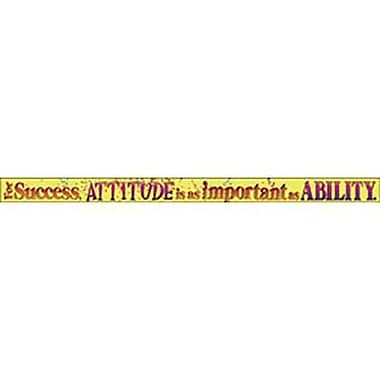 Trend Enterprises® 4th - 12th Grades Banner, For Success Attitude Is As Important