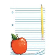"Teacher Created Resources Notepad 8"" x 5"", Red/White (TCR1141)"