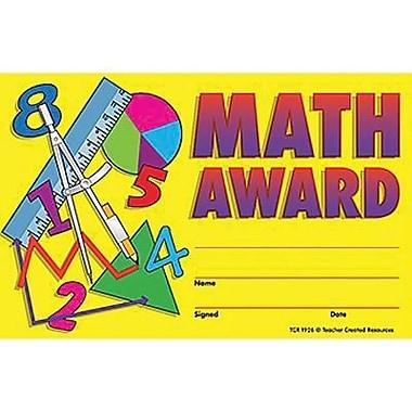 Teacher Created Resources® Math Awards