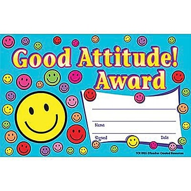 Teacher Created Resources® Good Attitude Awards