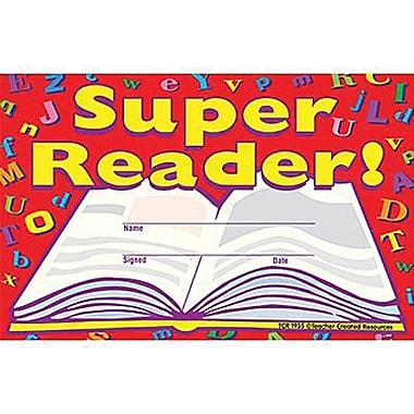 Teacher Created Resources® Super Reader Awards