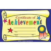 "Teacher Created Resources® Certificate of Achievement, 8 1/2""(L) x 11""(W)"