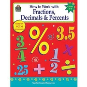Teacher Created Resources® How To Work With Fractions, Decimals and Percents Book, Grades 5th - 8th