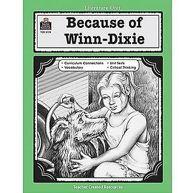Teacher Created Resources® Because of Winn-Dixie Guide, Grades 3rd -5th