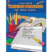Teacher Created Resources® A Year Full of Writing Projects Resource Book, Grades 6th - 8th