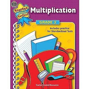 Teacher Created Resources® Practice Makes Perfect Series Multiplication Book, Grades 3rd