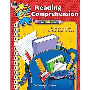 Teacher Created Resources® Practice Makes Perfect Reading Comprehension Book, Grades 6th