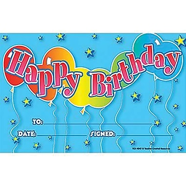 Teacher Created Resources® Birthday 2 Awards