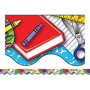"Teacher Created Resources TCR4126 35"" x 2.187"" Scalloped School Tools Border Trim, Multicolor"