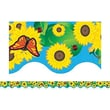 Teacher Created Resources® Toddler - 12th Grades Scalloped Bulletin Board Border Trim, Sunflowers