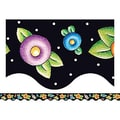 Teacher Created Resources® Toddler-12th Grades Scalloped Bulletin Board Border Trim, Dots & Flowers