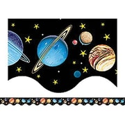 "Teacher Created Resources TCR4600 35"" x 2.187"" Scalloped Solar System Border Trim, Multicolor"