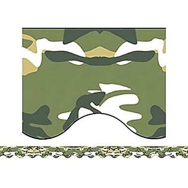 Teacher Created Resources® Kindergarten-12th Grades Scalloped Bulletin Board Border Trim, Camouflage
