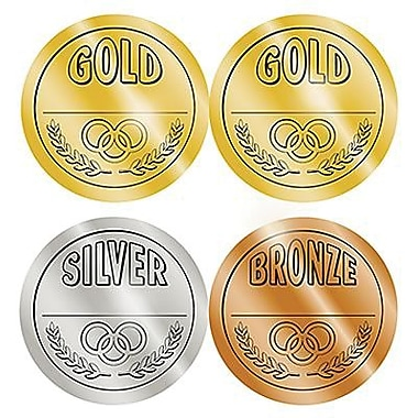 Teacher Created Resources® Medals Wear 'Em Badges, Gold, Silver, Bronze