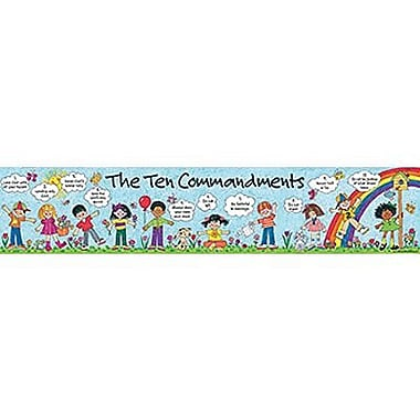 Teacher Created Resources® Banner, Children's Ten Commandments