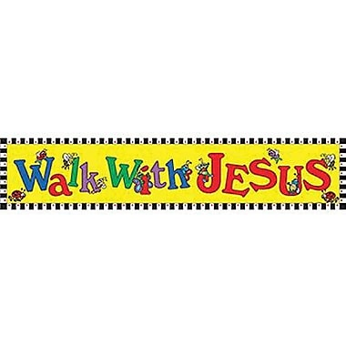 Teacher Created Resources® Toddler - 3rd Grades Horizontal Banner, Walk With Jesus