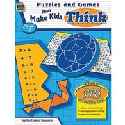 Teacher Created Resources® Puzzles and Games Make Kid's Think Classic Game Book, Grades 2nd