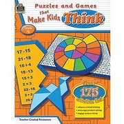 Teacher Created Resources® Puzzles and Games Make Kid's Think Classic Game Book, Grades 4th