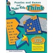 Teacher Created Resources® Puzzles and Games Make Kid's Think Classic Game Book, Grades 6th