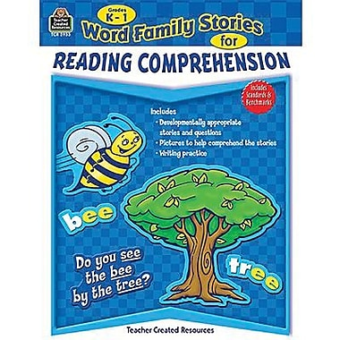 Teacher Created Resources® Word Family Stories Book For Reading Comprehension, Grades K-1st