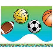 Teacher Created Resources® pre-school - 8th Grades Scalloped Bulletin Board Border Trim, Sports