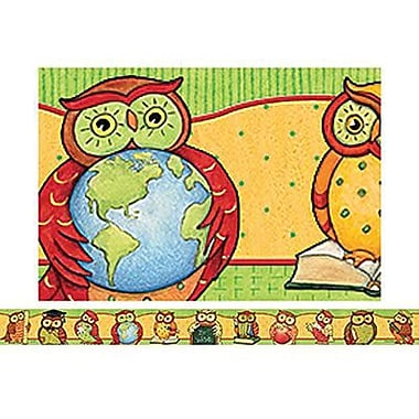 Teacher Created Resources® Pre School - 12th Grades Straight Bulletin Board Border Trim, Owl