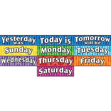 Teacher Created Resources® Headliner, Days of The Week