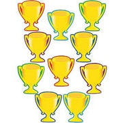 "Teacher Created Resources TCR4569 6"" DieCut Trophy Cups Accents, Gold"