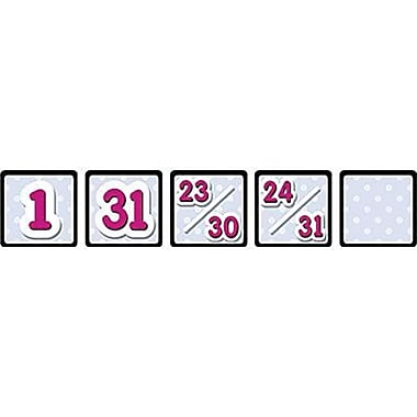 Teacher Created Resources® Calendar Days Mini Pack, Black Polka Dots