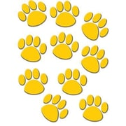 "Teacher Created Resources TCR4645 6"" DieCut Paw Prints Accents, Gold"