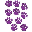 Teacher Created Resources® Grades Toddler - 12th Accents Paw Prints, Purple