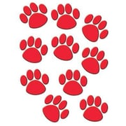 "Teacher Created Resources TCR4647 6"" DieCut Paw Prints Accents, Red"