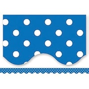Teacher Created Resources® P-12th Grades Scalloped Bulletin Board Border Trim, Blue Mini Polka Dots