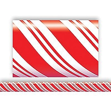 Teacher Created Resources® pre-school - 12th Grades Straight Bulletin Board Border Trim, Candy Cane