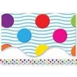Teacher Created Resources® Scalloped Bulletin Board Border Trim, Multi Color Mini Polka Dots