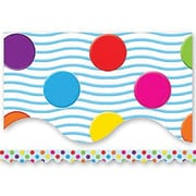 "Teacher Created Resources TCR4674 35"" x 2.187"" Scalloped Polka Dots Border Trim, Multicolor"
