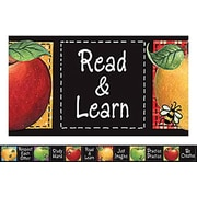 "Teacher Created Resources TCR4748 35"" x 3"" Straight Colorful Apples Border Trim from Susan Winget, Multicolor"