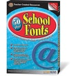 Teacher Created Resources® 50 Plus School Fonts, Grades 1st - 2nd