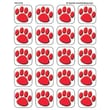Teacher Created Resources® Stickers, Red Paw Prints