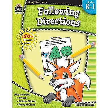 Teacher Created Resources® Ready - Set - Learn, Following Directions Book