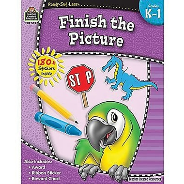 Teacher Created Resources® Ready - Set - Learn, Finish The Picture Book, Grades Kindergarten - 1st