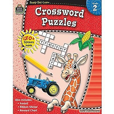 Teacher Created Resources® Ready - Set - Learn, Crossword Puzzles Book, Grades 2