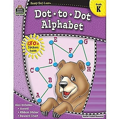 Teacher Created Resources® Ready - Set - Learn, Dot-to-Dot Alphabet Book, Kindergarten