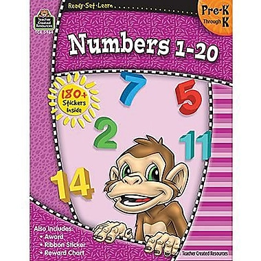 Teacher Created Resources® Ready -Set -Learn, Numbers 1 -20 Book