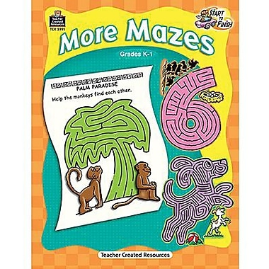 Teacher Created Resources® Start To Finish More Mazes Book, Grades Kindergarten - 1st