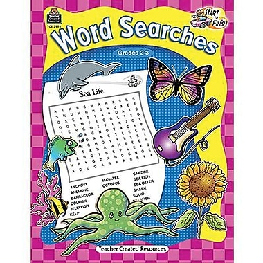 Teacher Created Resources® Start To Finish Word Searches Book, Grades 2nd - 3rd