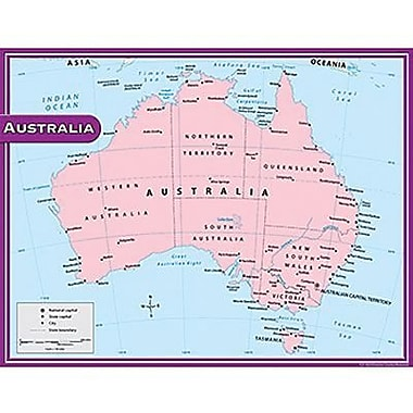 Teacher Created Resources® Australia Map Chart