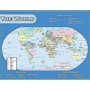 Teacher Created Resources® World Map Chart