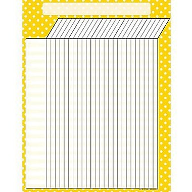 Teacher Created Resources® Polka Dots Incentive Chart, Yellow